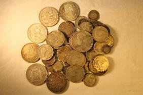 Misc Lot of World Coins, Silver