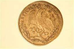 1828 Mexican Reales Silver Coin
