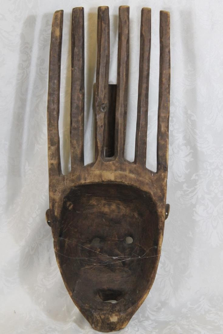 African Wood Mask - 2