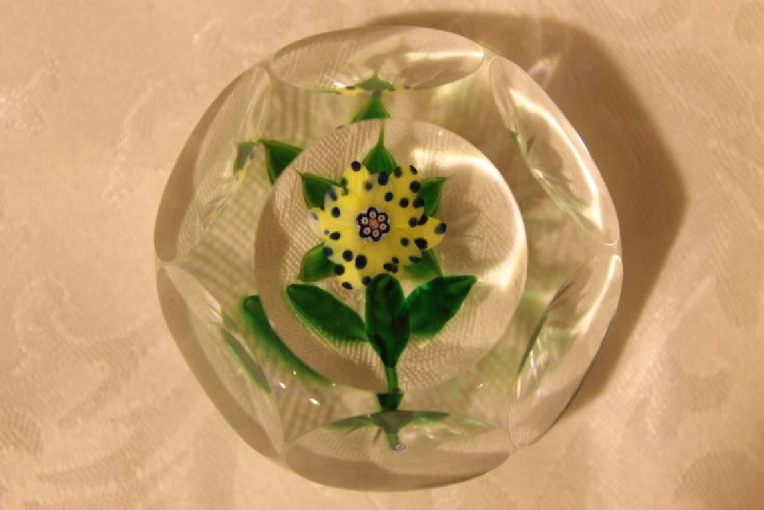 Floral Paperweight, Signed