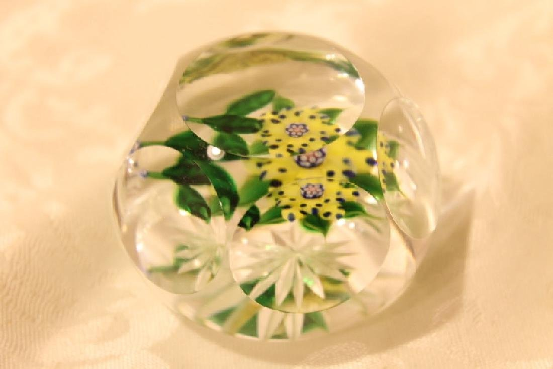 Floral Paperweight, Signed - 2