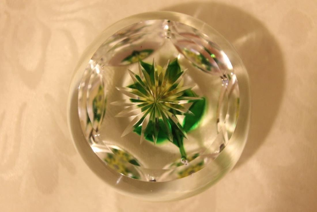 Floral Paperweight, Signed - 5