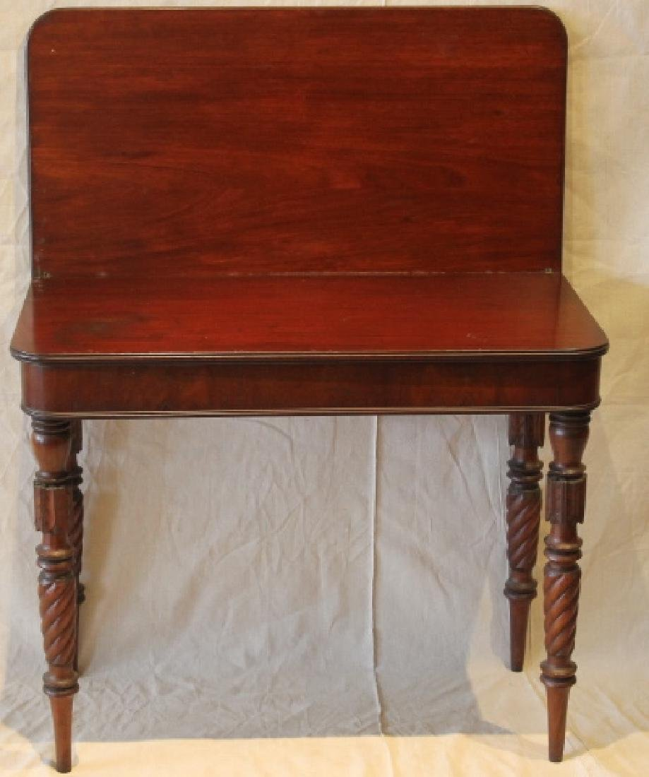 Sheraton Card Table, Provenance, Hooper Mansion
