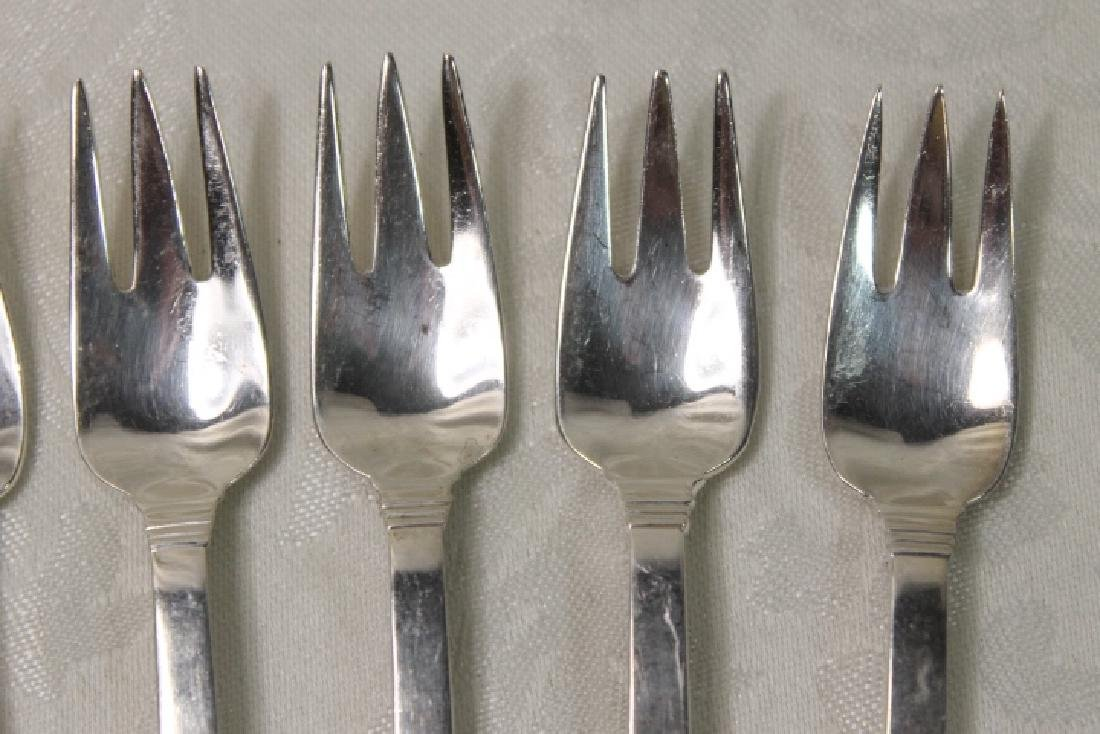 "Tiffany Sterling ""Hampton"" Oyster Forks - 3"