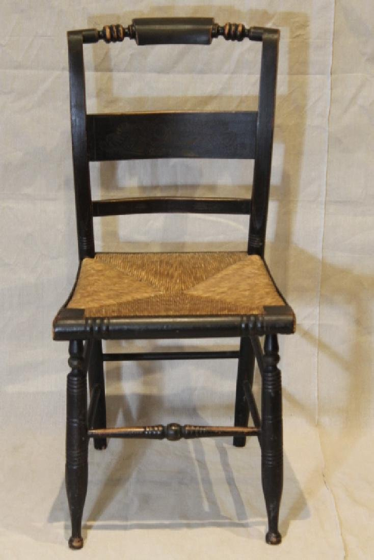 Set of Six Pillowback Hitchcock Chairs - 2