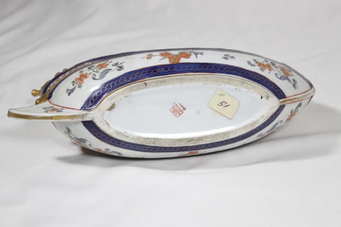 Porcelain Boat w/Inkwell Insert - 5
