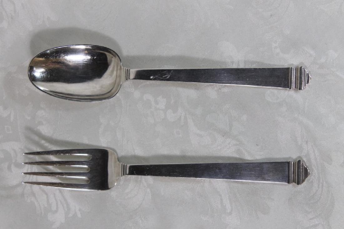 "Sterling Tiffany ""Hampton"" Pattern Servers"