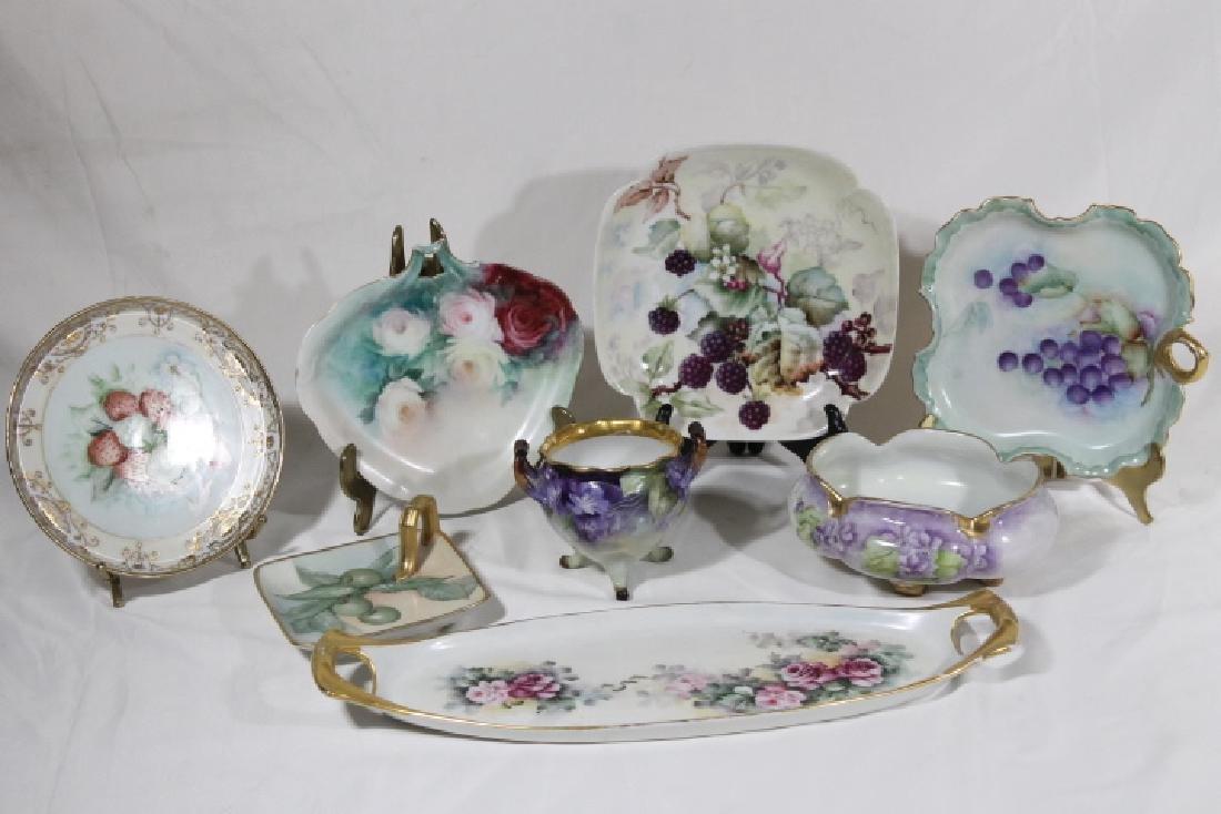 8 Pcs of Hand Ptd. Porcelain