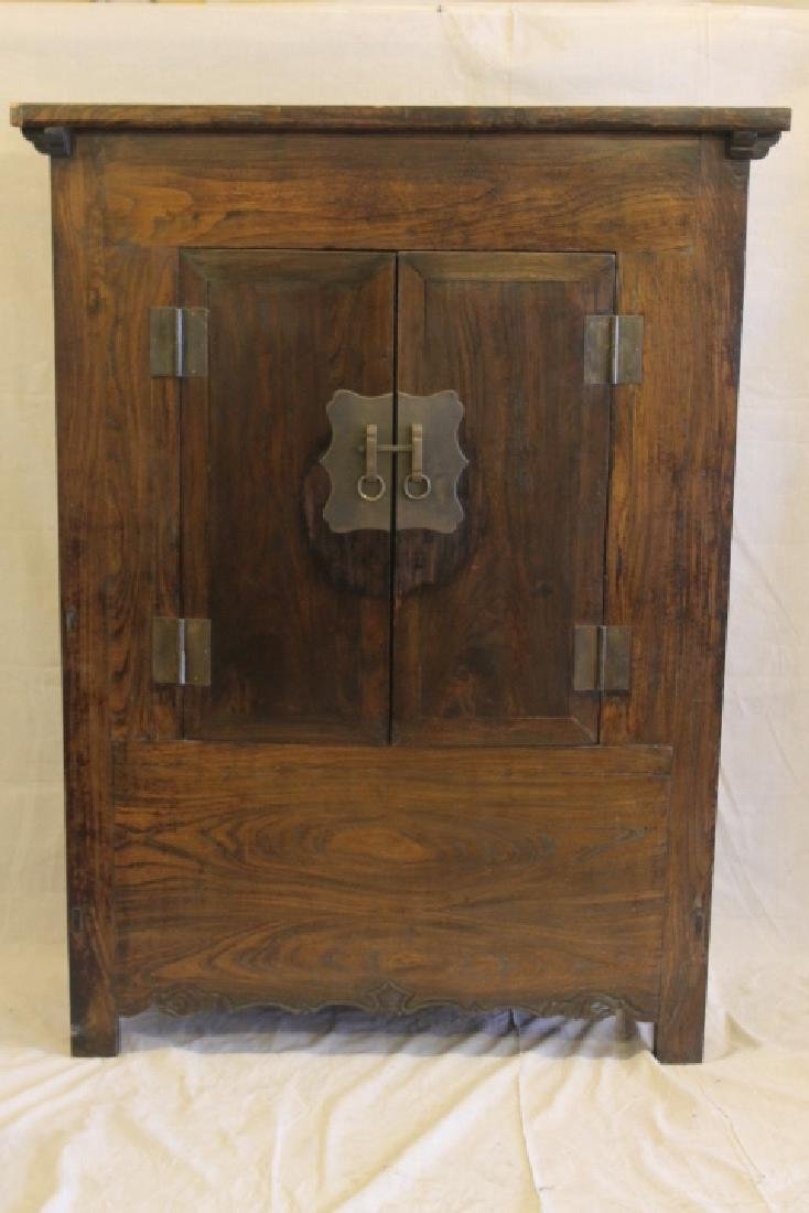 19th Century Chinese Elmwood Cupboard