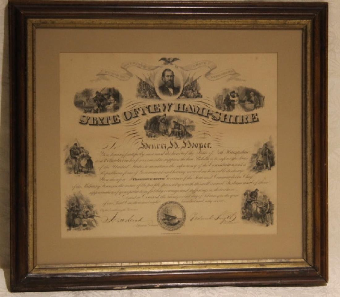 Military Discharge of Henry H. Hooper 1865