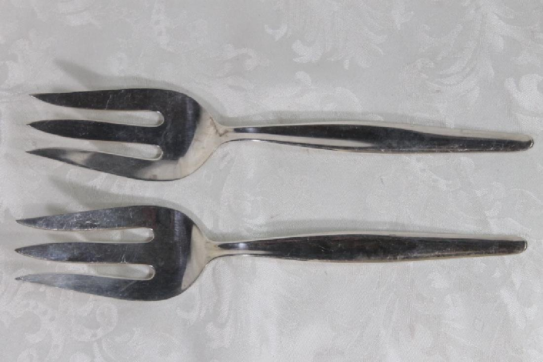 Two Sterling Serving Forks