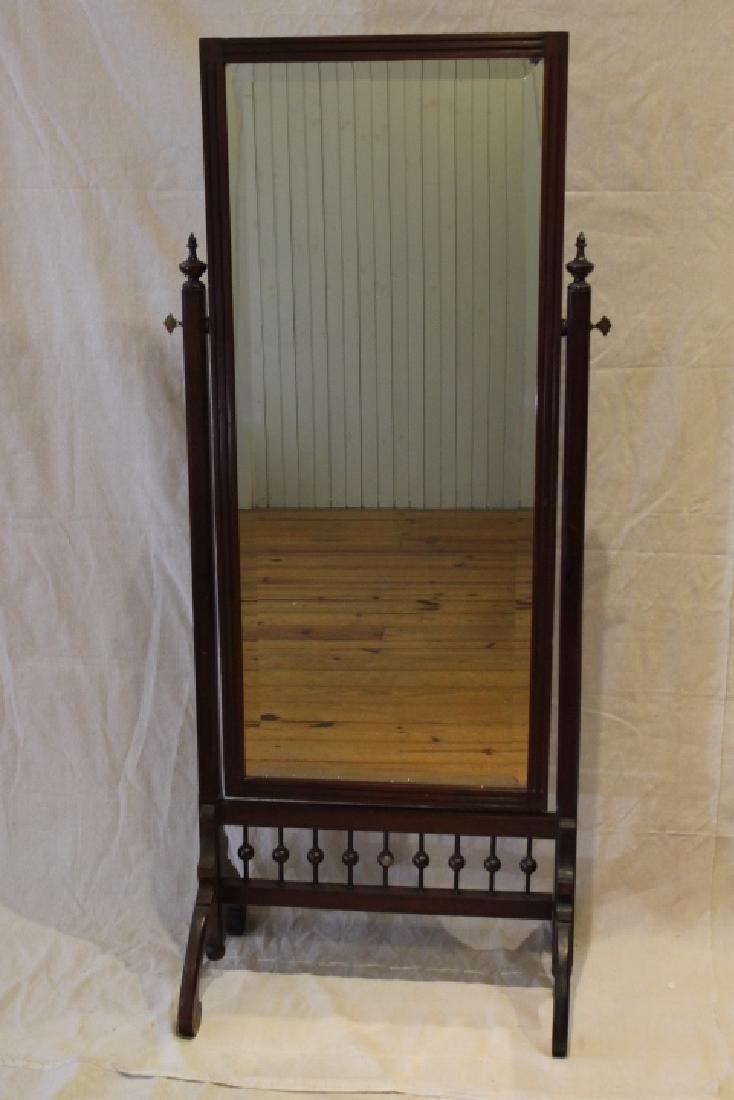 Mahogany Free Standing Dressing Mirror