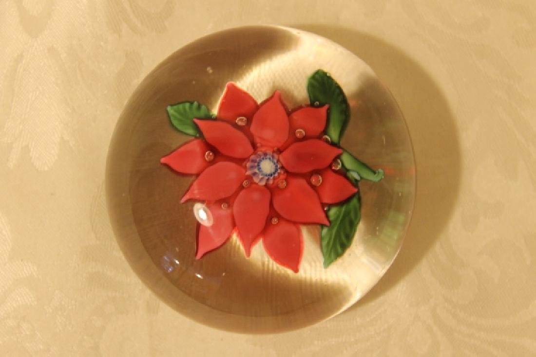 Poinsettia Design Paperweight