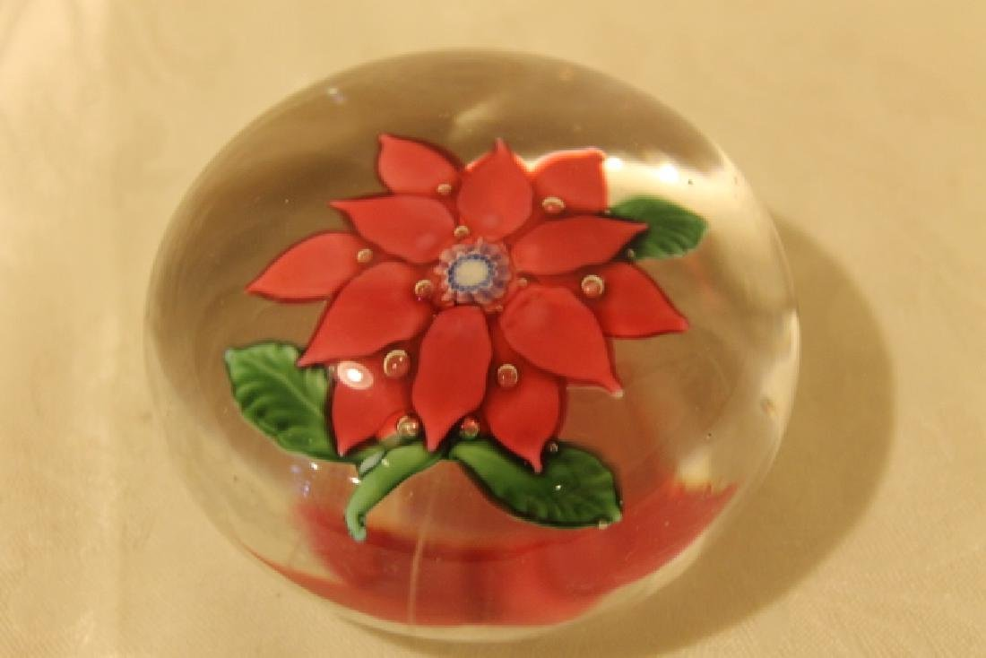 Poinsettia Design Paperweight - 2