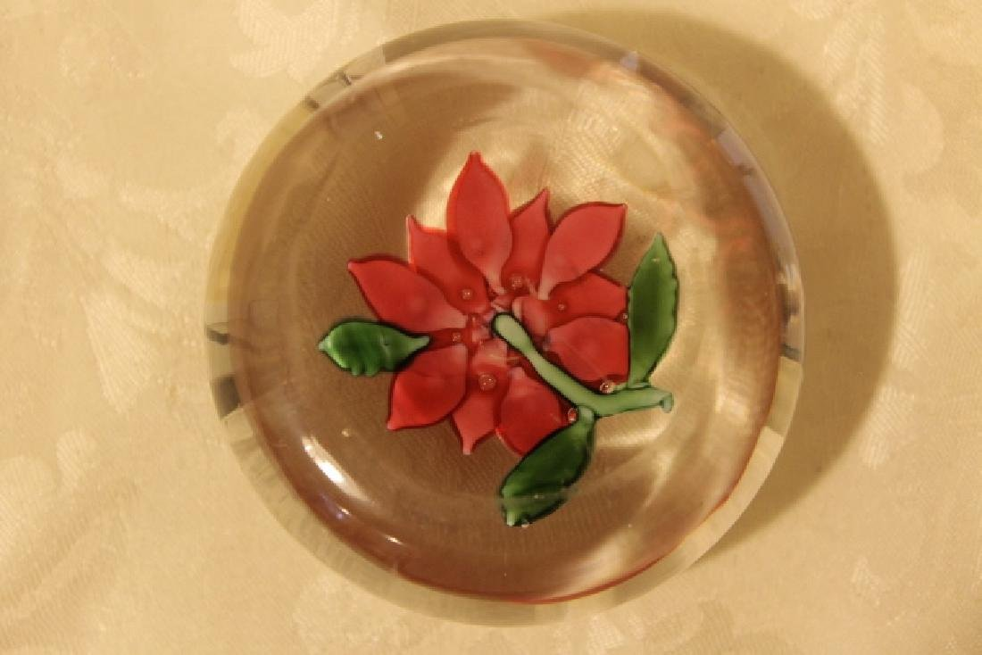 Poinsettia Design Paperweight - 4