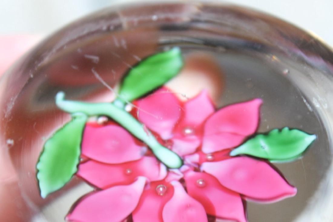 Poinsettia Design Paperweight - 5