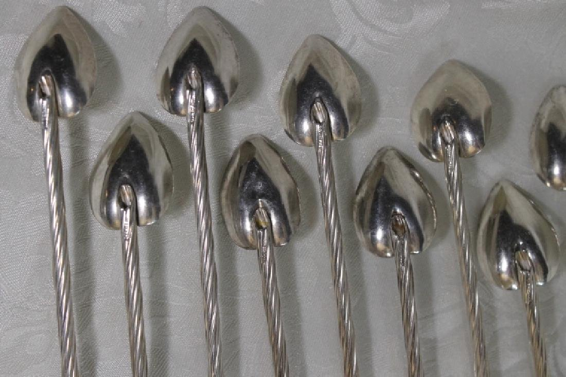 Ten Sterling ice Tea Spoons - 6
