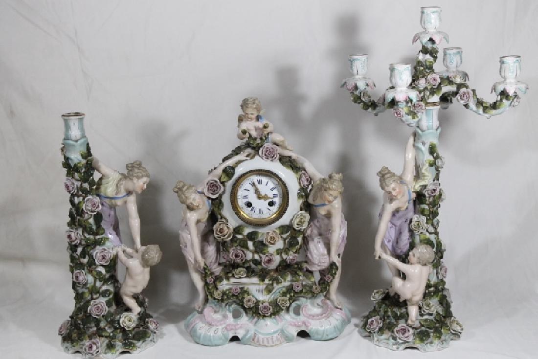 3 Pc Clock Garniture