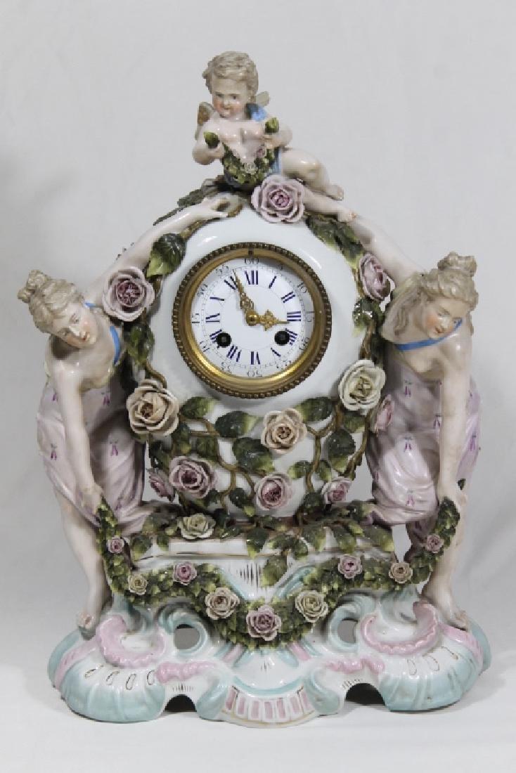 3 Pc Clock Garniture - 2