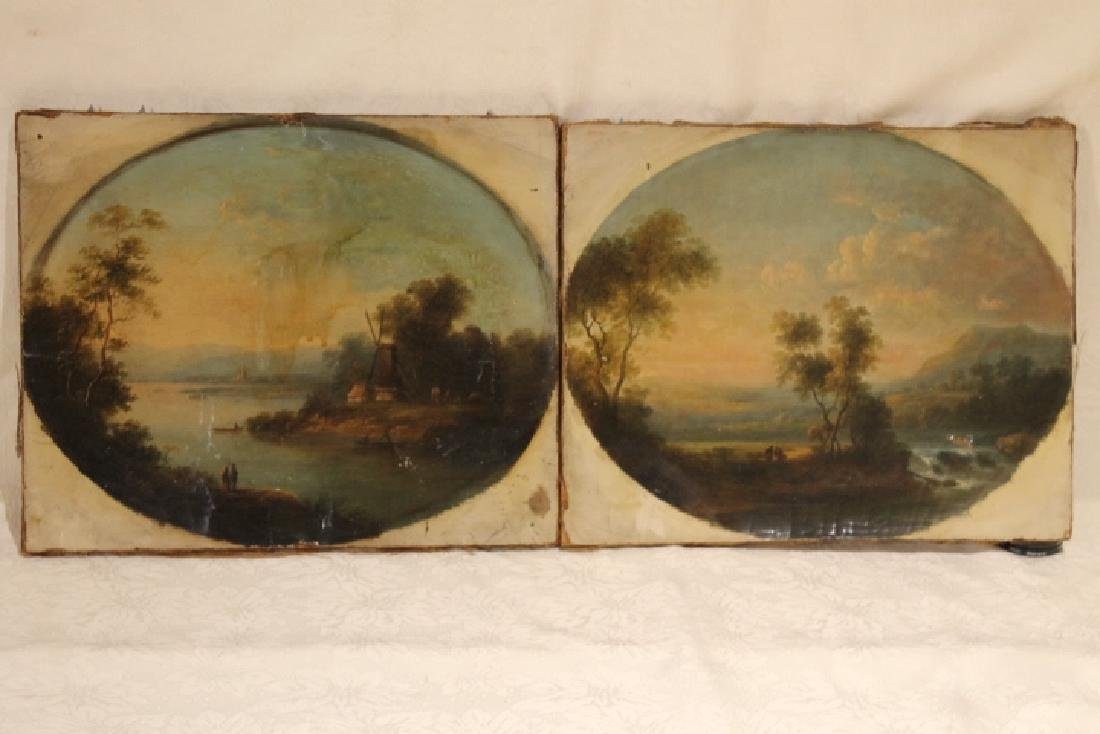 Pr of 19th Century Oil Ptgs, 1 signed