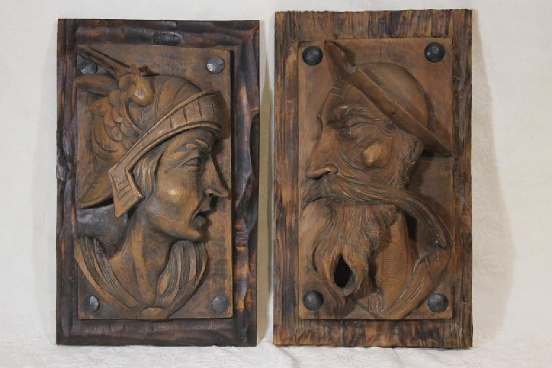 2 Wooden Wall Plaques