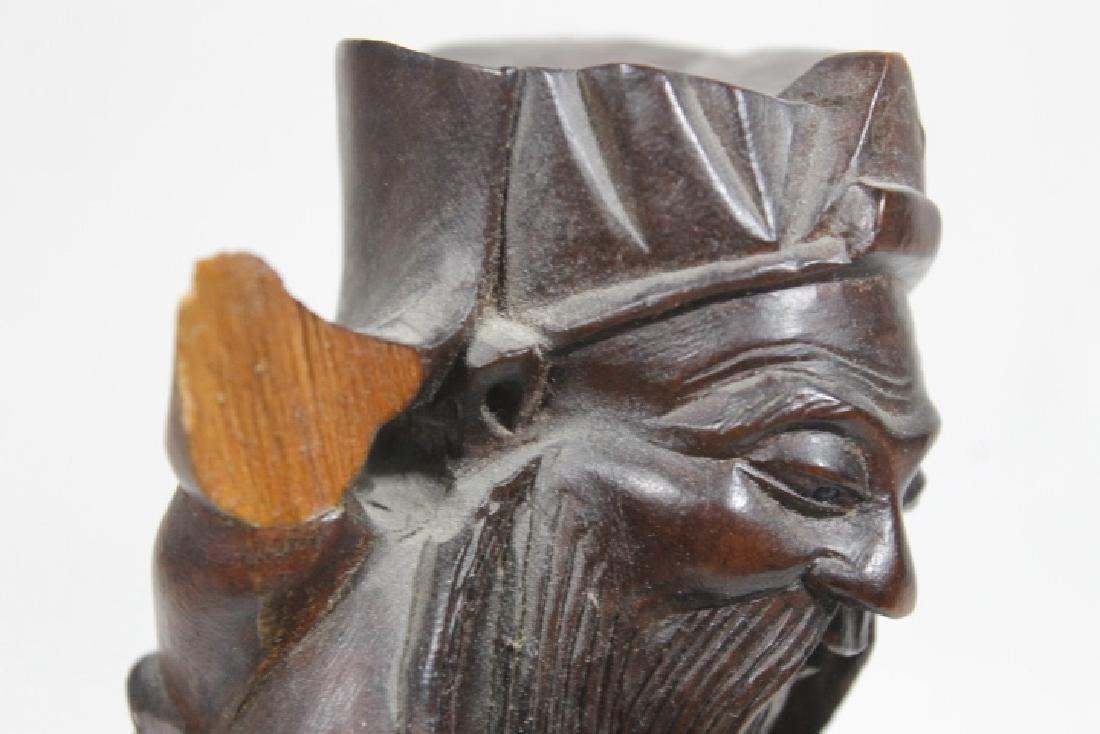 3 Asian Wood Statues - 6