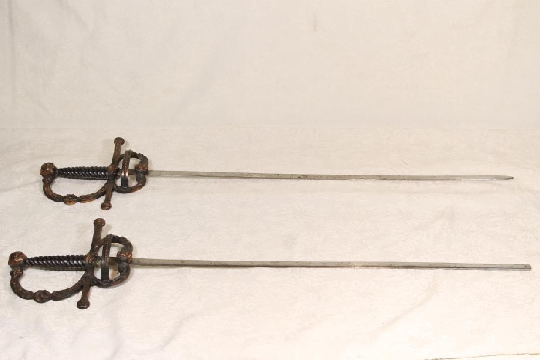 Two Fraternal Dress Swords, Hooper Mansion