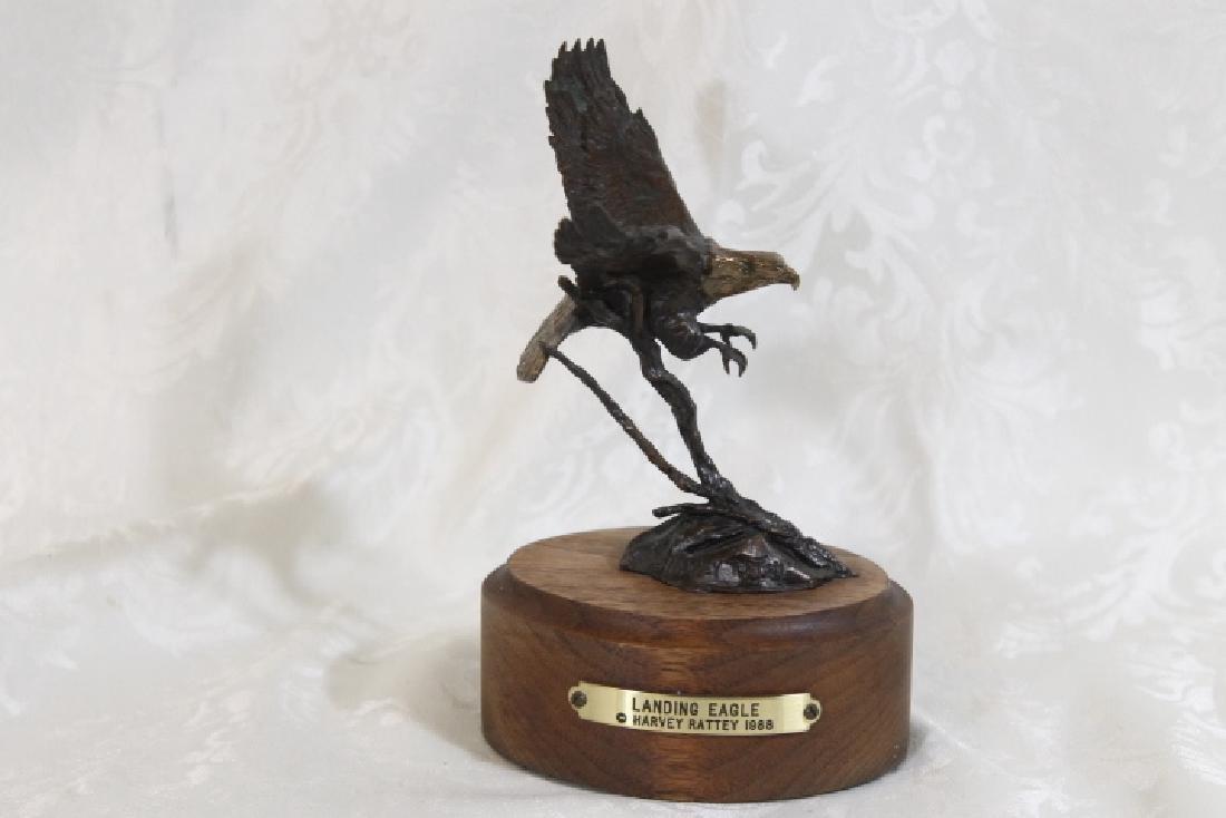 Bronze Landing Eagle by Harvey Battey