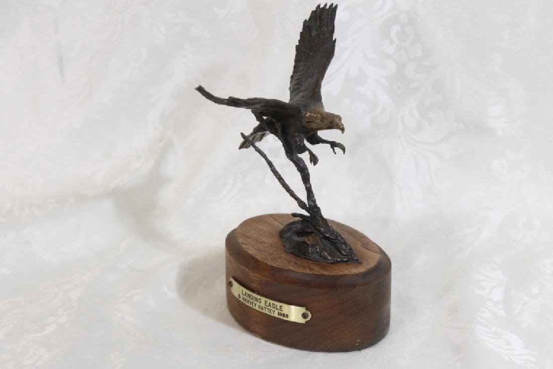 Bronze Landing Eagle by Harvey Battey - 2