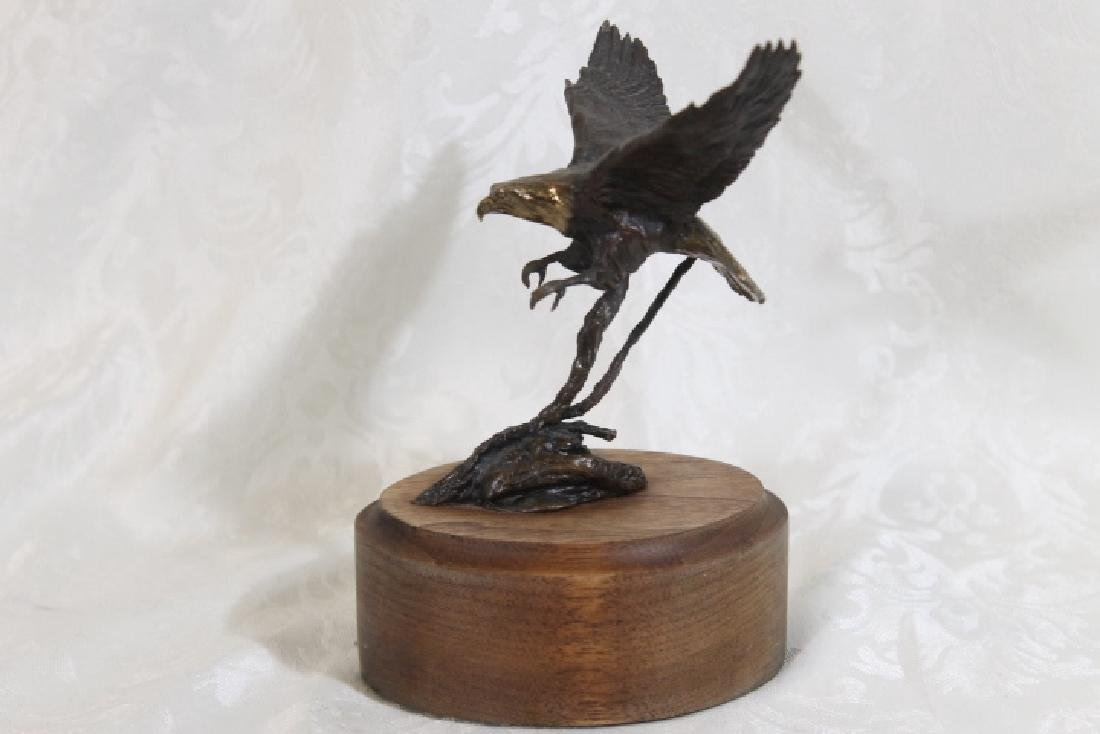 Bronze Landing Eagle by Harvey Battey - 4