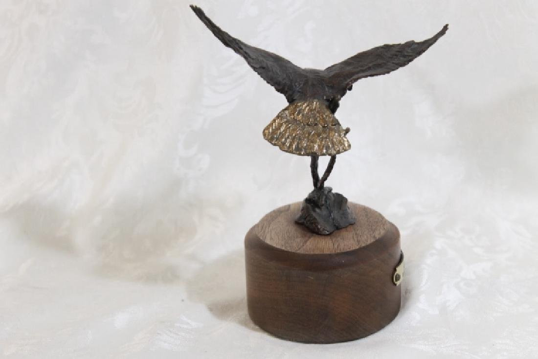 Bronze Landing Eagle by Harvey Battey - 5