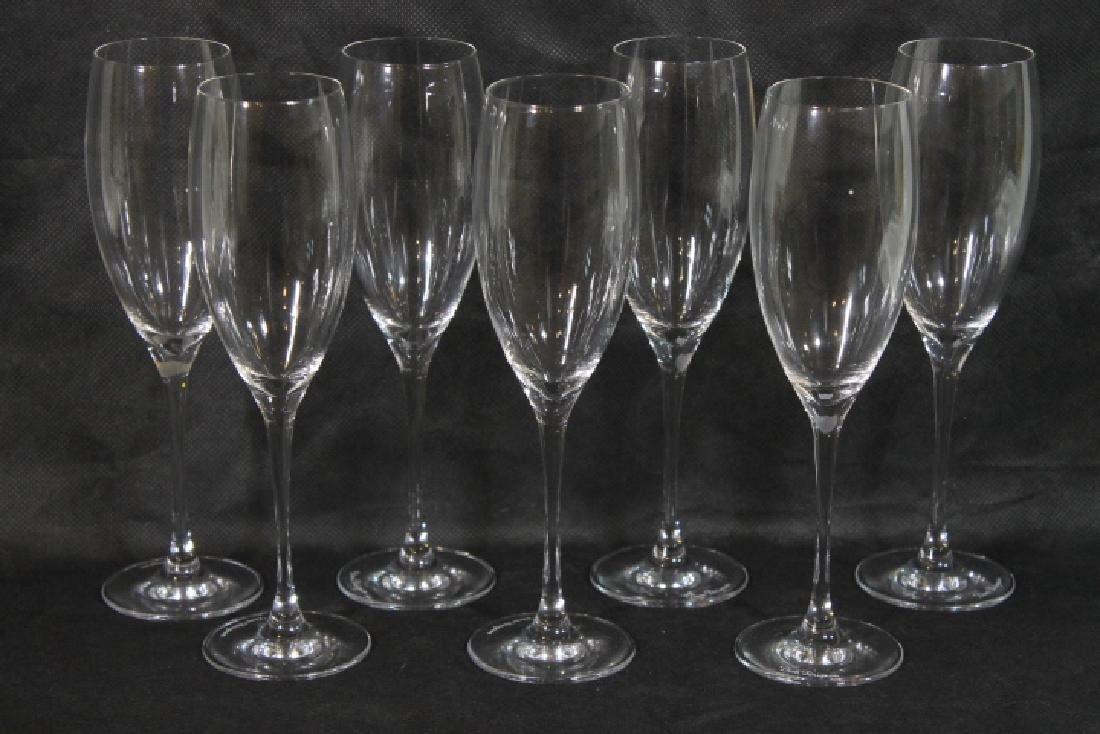 Seven Baccarat Flutes for Dom  Perignon
