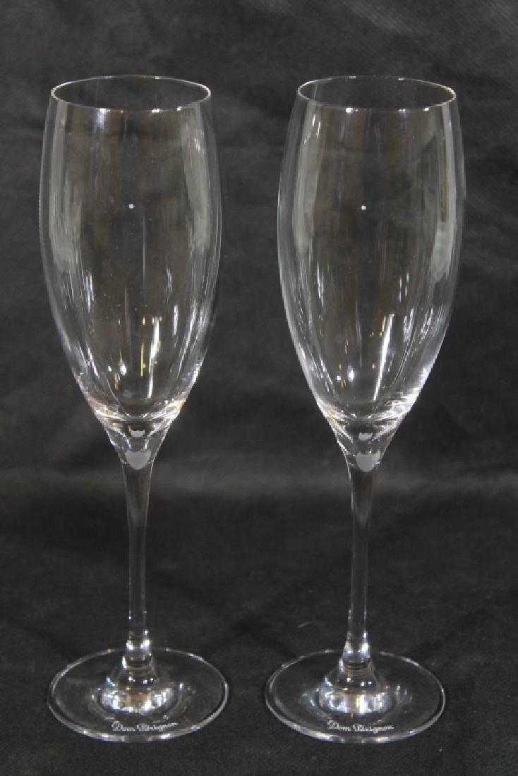 Seven Baccarat Flutes for Dom  Perignon - 2