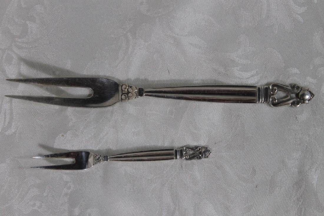 Two Georg Jensen Sterling Servers