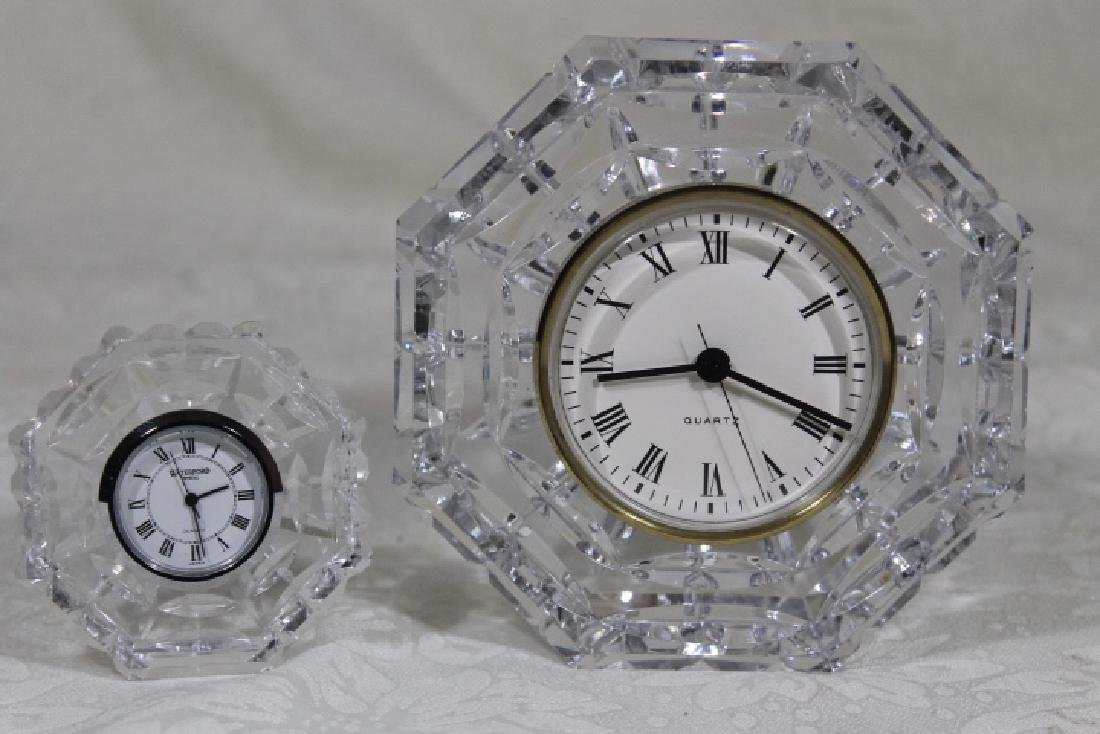 Two Signed Waterford Table Clocks