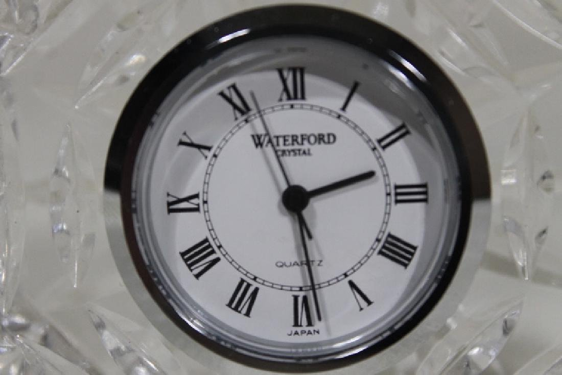 Two Signed Waterford Table Clocks - 5
