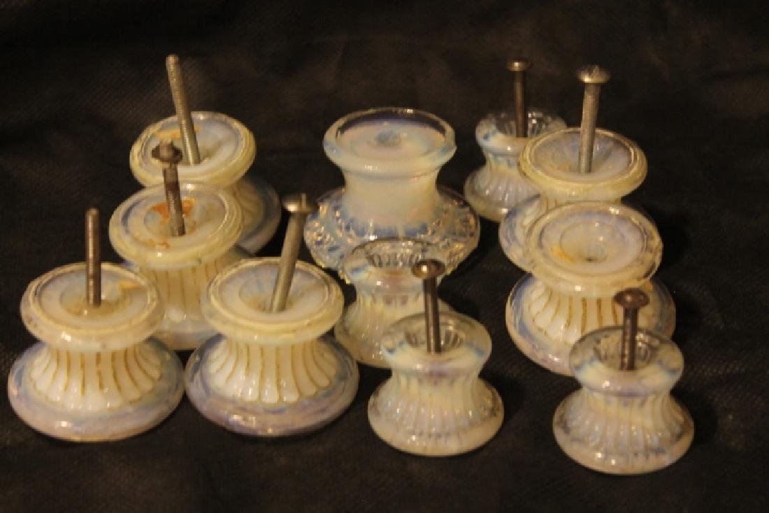 Eleven Sandwich Glass Knobs - 5