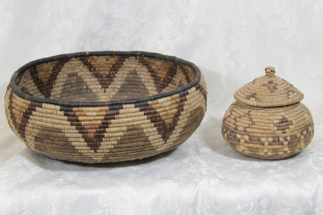 Two Coiled Northwest Baskets