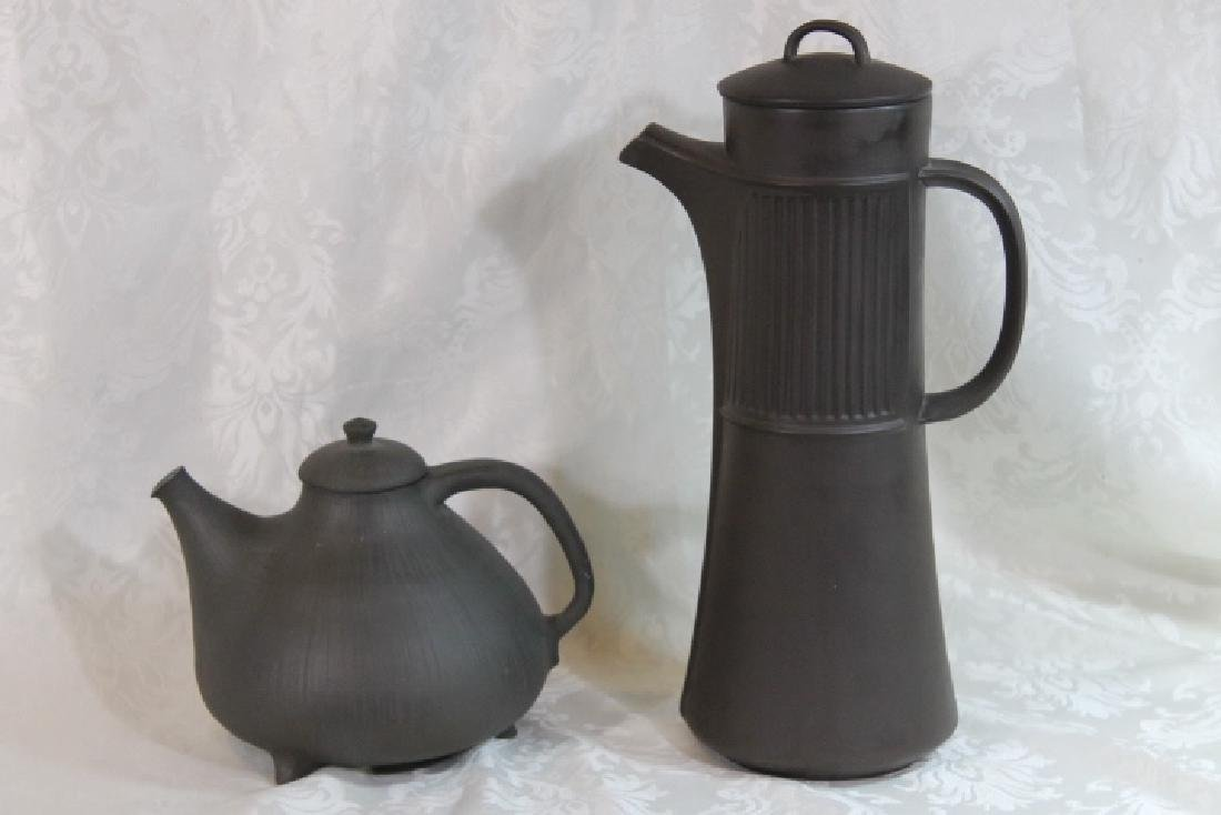 Two Pcs of Mid Modern Pottery