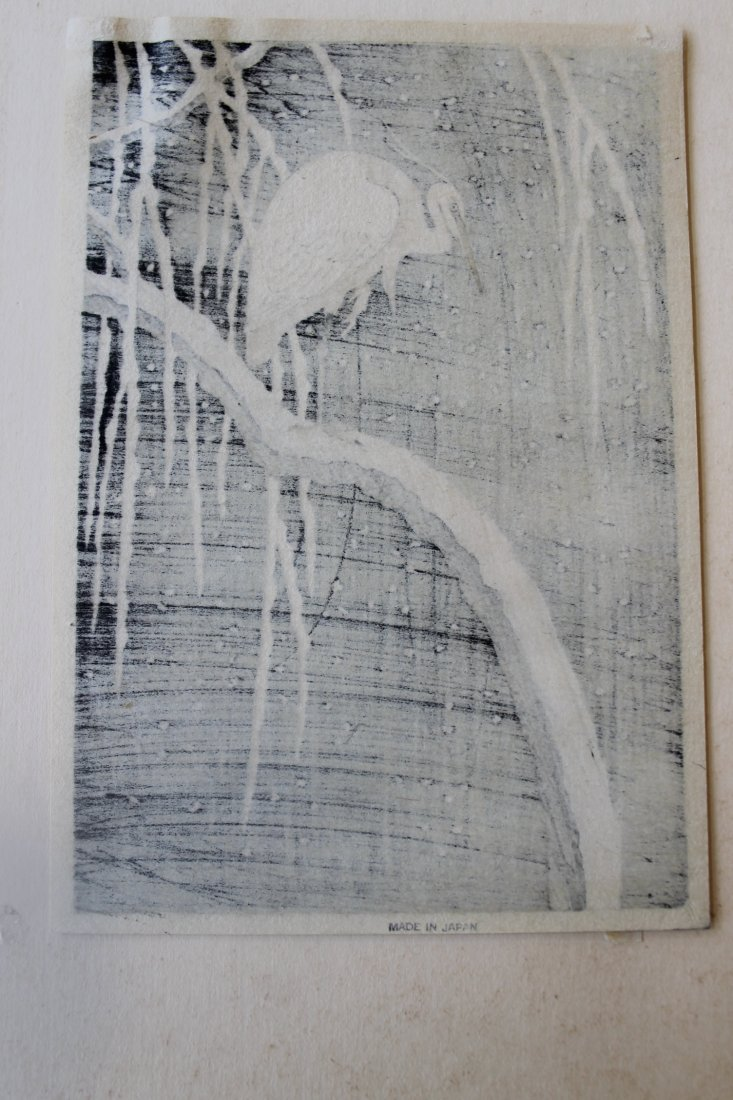 Heron On Willow, Woodblock - 5
