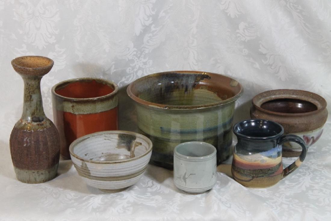 Seven Pottery Pcs