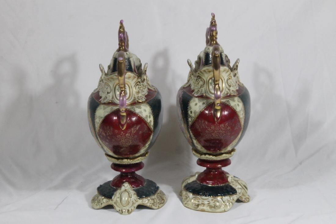 Pr.. Of Royal Vienna Covered Urns - 3