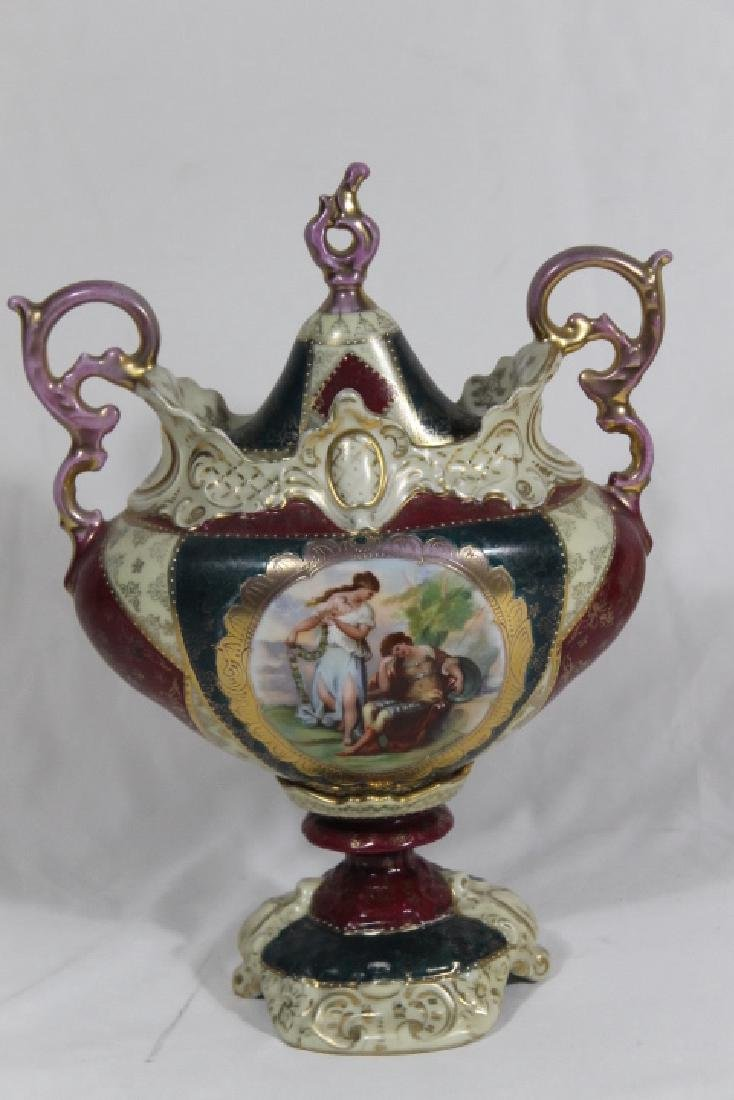 Pr.. Of Royal Vienna Covered Urns - 4