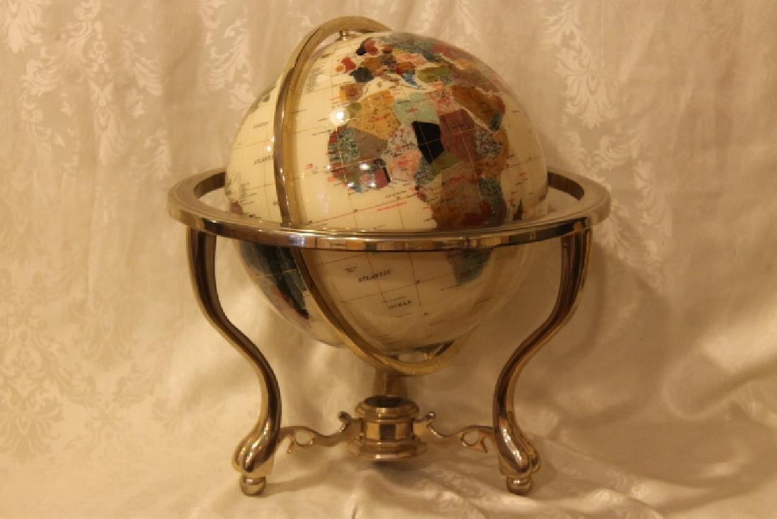 Zeme Artcraft Floor Globe, Brass Stand