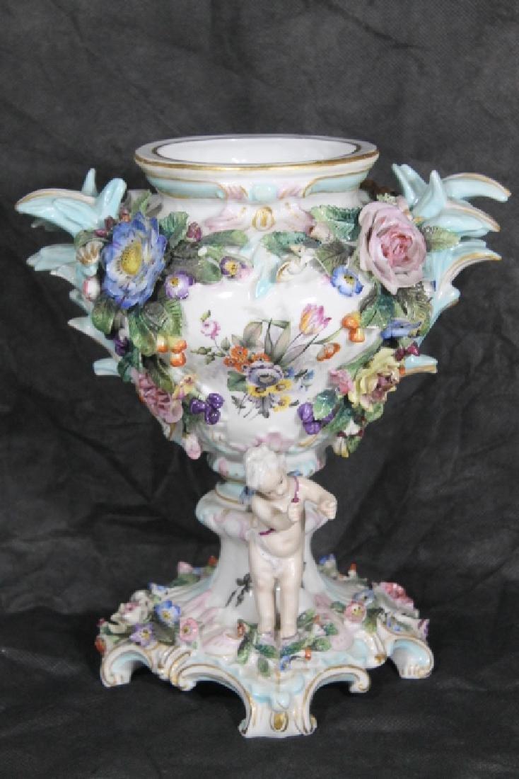 European Porcelain Urn w/Cherubs - 4