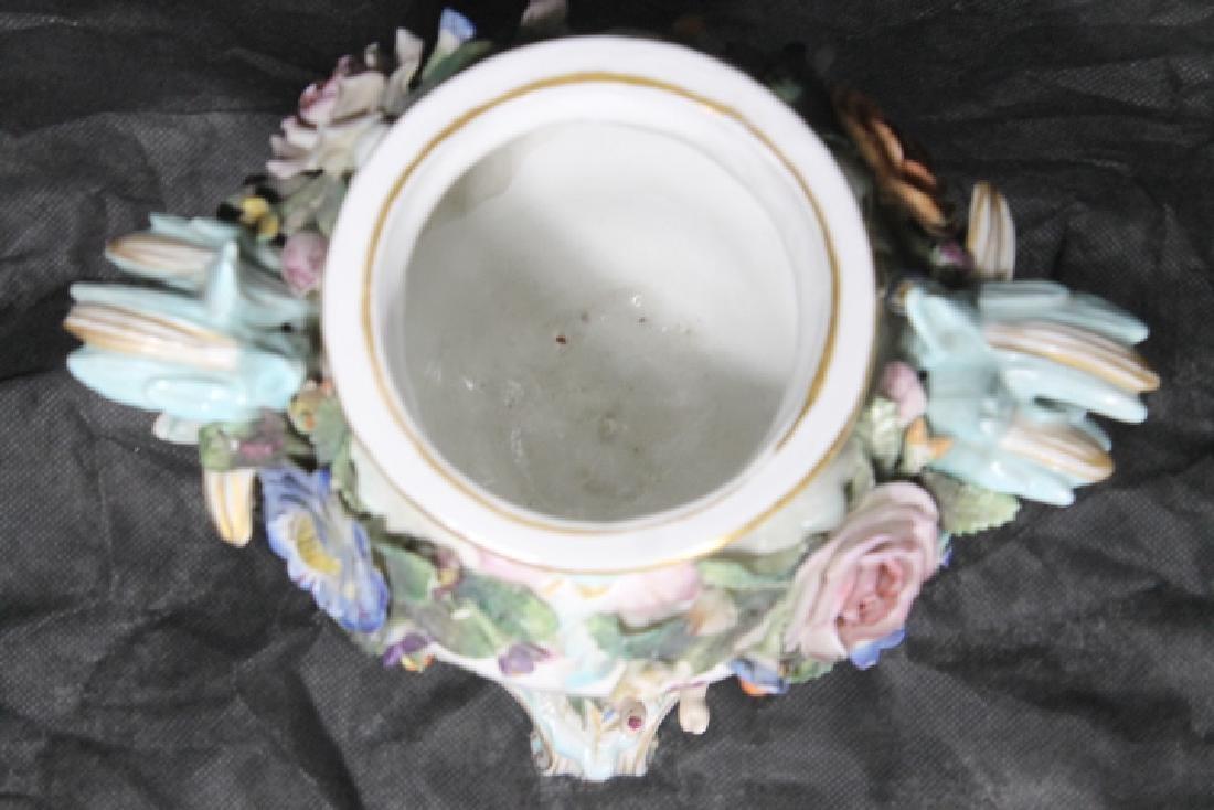 European Porcelain Urn w/Cherubs - 5