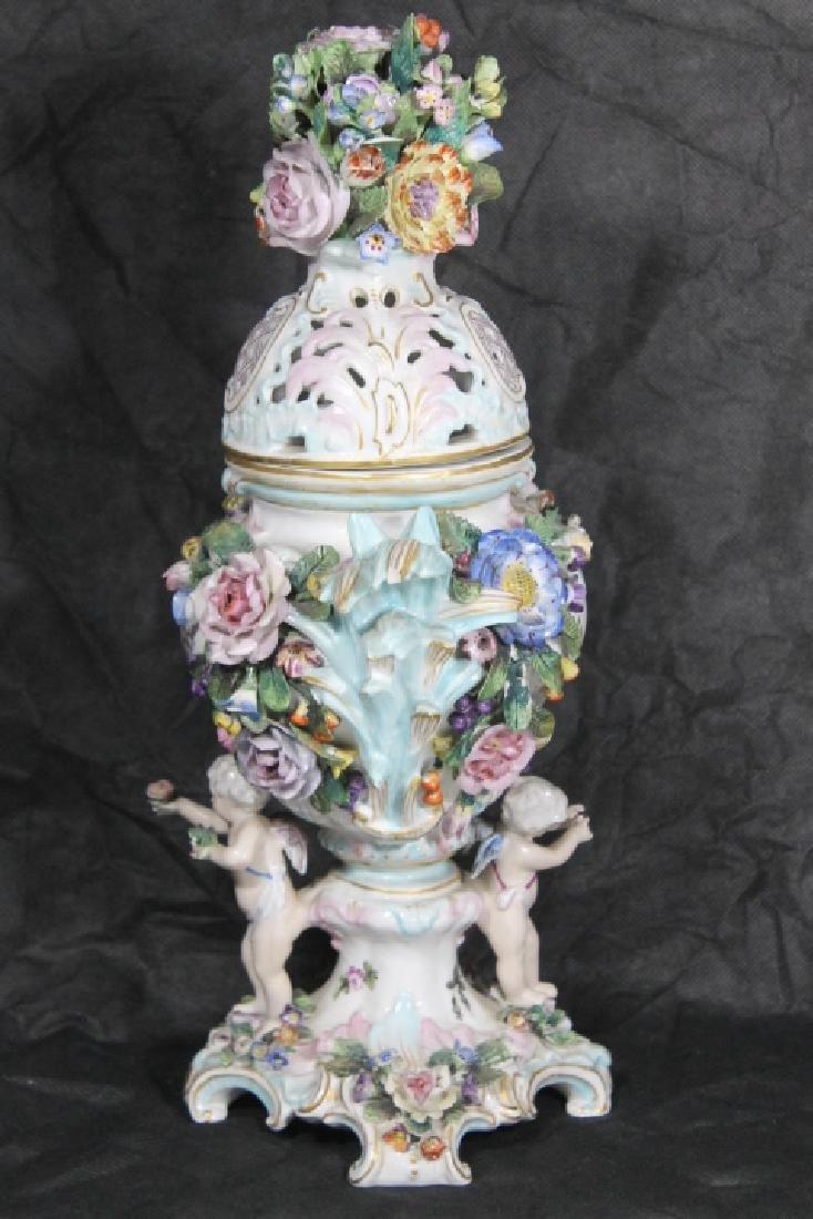 European Porcelain Urn w/Cherubs - 6