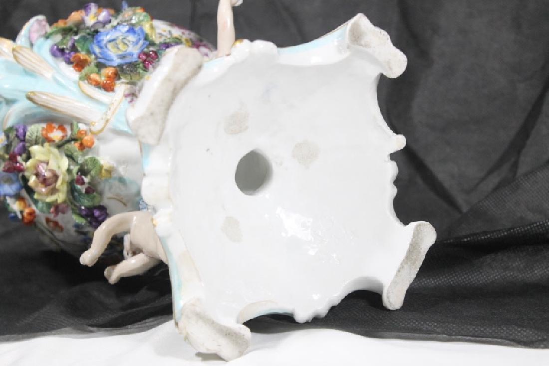 European Porcelain Urn w/Cherubs - 9