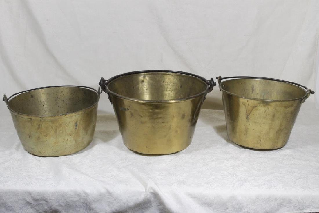 Three Brass Buckets