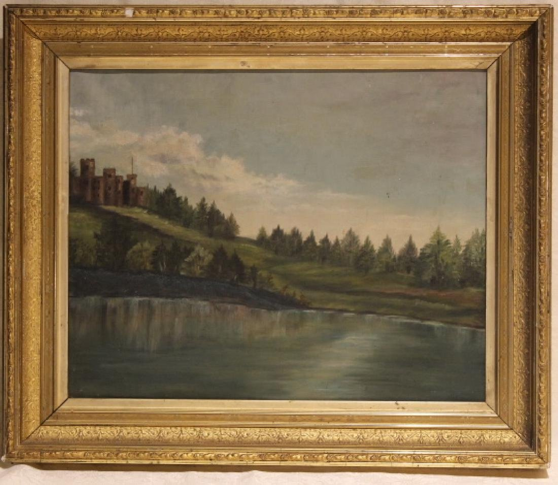 Unsigned Victorian Oil On Canvas